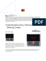 Sony Blinking Codes