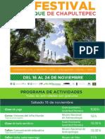 Programa del Festival del Bosque de Chapultepec