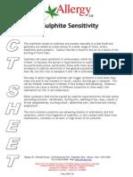 Sulphite Sensitivity