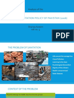 Sanitation Policy 2006 Analysis