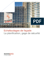 Echafaudage La Planification Gage de Securite 44077 F