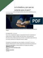 Qué Es La Bioética y Por Qué Es Importante Para El País