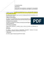 Factores Para La Ponderación - Explicación de Los Factores
