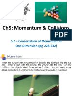Pp10 Conservation of Momentum - 1d 5.2 With Notes