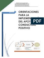 Orientaciones Para La Implementación Del Apoyo Conductual Positivo