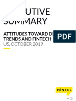 Attitudes Toward Digital Trends and Fintech - US - October 2019 - Executive Summary