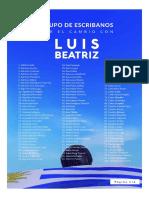 Escribanos respaldan a Luis y Beatriz