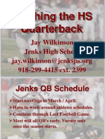 Glazier Clinic - Teaching the High School Quarterback.ppt