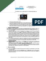 Manual Del Control de Asistencia Biometrico