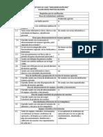 Requisitos Para La Certificación
