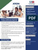 BAAS Applied Administration Web