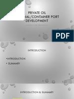 Private Oil Terminal Development