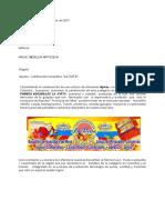 Carta Presentacion Bocadillo Medellin Unilac