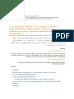 Uma Hipótese de Defendant Class Action No CPC (Inter.) O Papel Do Ministério Público Na Efetivação Do Contraditório Nas