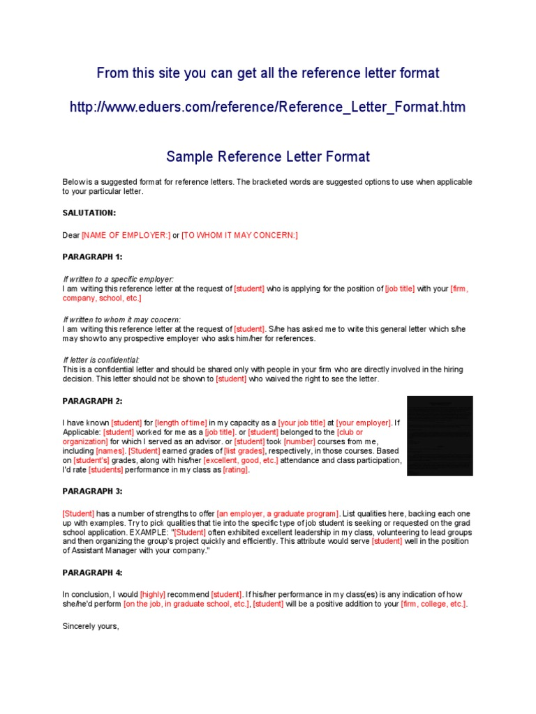 From this site you can get all the reference letter format from this site you can get all the reference letter format graduate school employment aljukfo Images