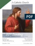 Bulletin for November 17, 2019