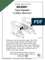 Bunn Coffee Maker Instructions