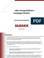 Sussex Group Renewable Energy Matters Campaign Outline 18 October 20101