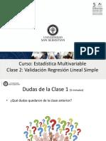 Regresión Lineal Simple (validación)