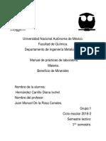 Manual de Beneficio  de minerales.