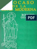 Guardini Romano - El Ocaso De La Edad Moderna.doc