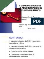 Generalidades de La Adm de RRHH