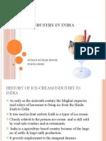 Ice-cream Industry in India