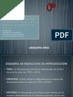 La Deforestacion Durante El Antropoceno en El Perú