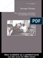 Savage Money . C.A. Gregory