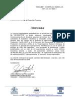 Certificado de Experiencia Contractual CDS