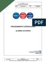 Procedimento Inter (Alarmes Externos)