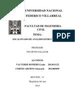 ESCALONADO DE ANÁLISIS ESTRUCTURAL I
