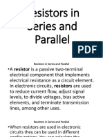 Resistors in Series and Parallel Connections