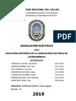Evolucion Historica de La Legislacion Electrica Latinoamerica - Modificado