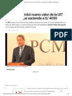 Gobierno Aprobó Nuevo Valor de La UIT Para 2017 Que Asciende a S_ 4050 _ LaRepublica