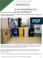 ¿Con Qué Color Se Identifican Los Distintos Tipos de Residuos