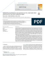 2018 - Optimization of Performance and Operational Cost for a Dual Mode Dieselnatural Gas RCCI and Diesel Combustion Engine