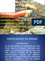 Sistema de Ventilacion de Mina