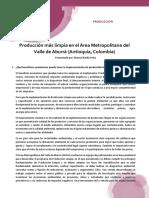 Producción Más Limpia en El Área Metropolitana Del Valle de Aburrá