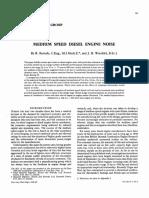 1968 - Medium ' Speed Diesel Engine Noise