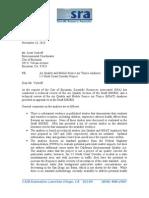 SRA's Comment Letter #1