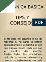 TIPS DE MECANICA
