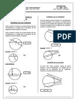 Geometría Relaciones Métricas en La Circunferencia