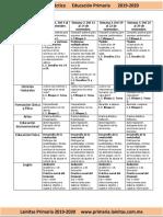 Noviembre - 3er Grado Dosificación (2019-2020)