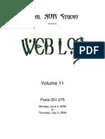 Web Log 11 (251-275)