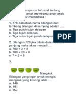 Soal Tentang Matematika KLS 2 SD