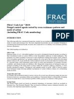 Frac Code List 2019