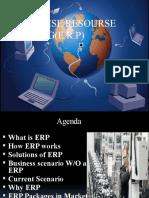 ENTERPRISE RESOURSE PLANNING(E.R.P)ppt