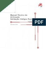 Manual técnico de utilização e validação de código postal.