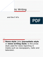 Journalistic Writing.ppt